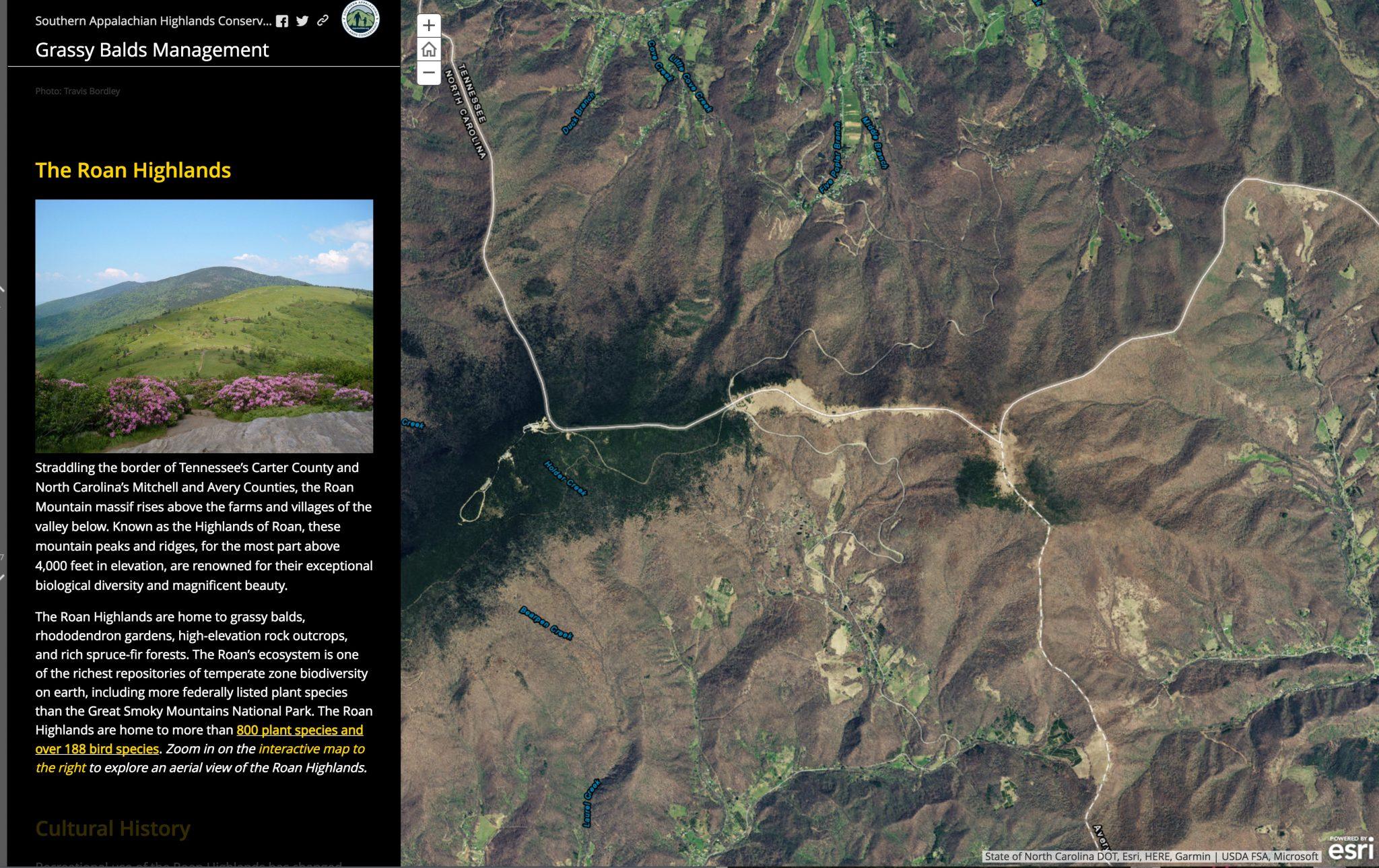 Roan Highlands Story Map - Southern Appalachian Highlands