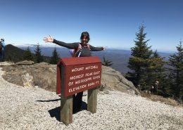 Hiker atop Mt Mitchell