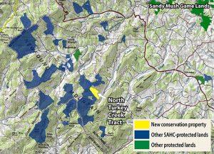 North Turkey Creek map