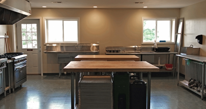 View of workspace in Community Kitchen