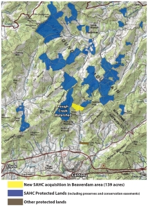Map of Doubleside Knob area conservation