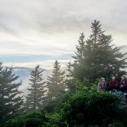 evening group on Grassy Ridge