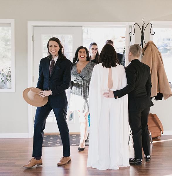 Receiving wedding guests