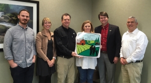 SAHC staff, NC Dept. of Ag and landowners at project closing