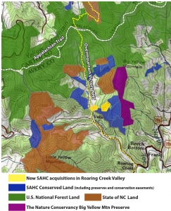 Roaring Creek conservation map