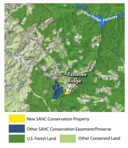 Map of Tannasee Ridge location
