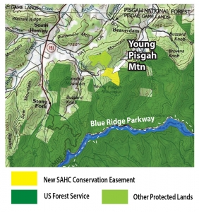 Map of Young Pisgah Mountain