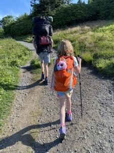 hiking in to Grassy Ridge