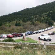 Carvers gap with crowded parking area