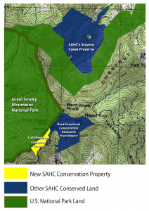 Cove Creek Gap and Cataloochee area conservation map