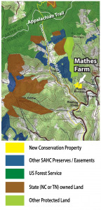 Mathes farm map with location in Highlands of Roan
