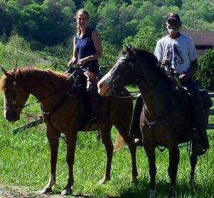 Shannonrae and Rickie Mathes on horseback
