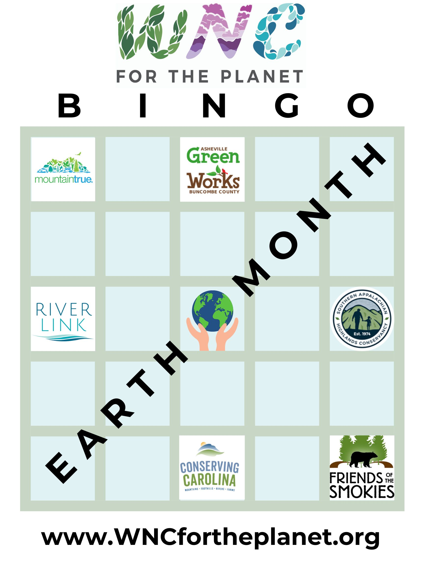 WNC for the planet Bingo Card