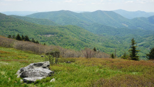 View of Roan Mountain Gateway from Round Bald on Appalachian Trail