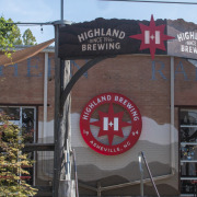 View of outside venue, Highland Brewing Co.