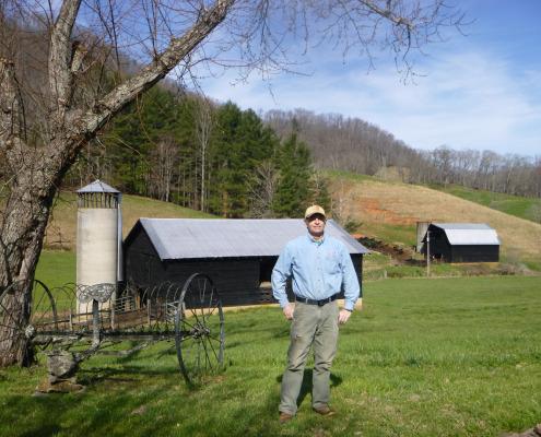 Mark Rogers on farm