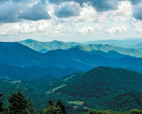 Long horizontal view of South Yellow Mountain area